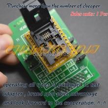 6*8мм QFN8 WSON8 MLF8 dfn8 размером головы-просачиваться-QFN8 гнездо программист адаптер для банды-08