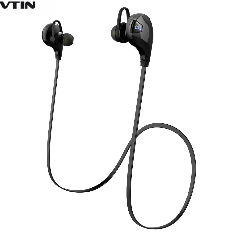 VTIN Bluetooth Headphone 4.0 Wireless Sport Headphones Stereo Sweat-proof Earbuds Headset with Mic