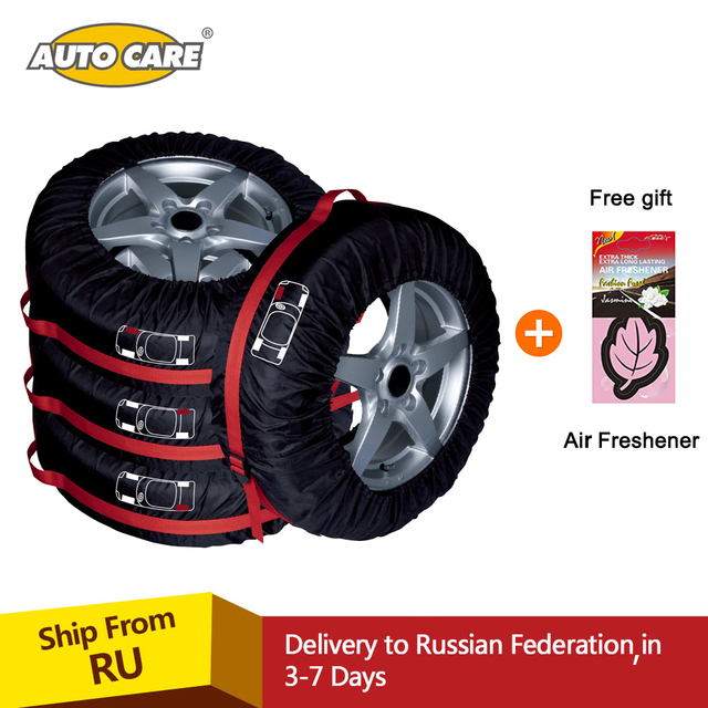 4pcs Spare Tire Cover Case Polyester Winter And Summer Car Tires