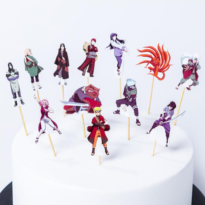 Incredible Boys Favors Birthday Party Naruto Theme Cake Topper Decorations Personalised Birthday Cards Sponlily Jamesorg