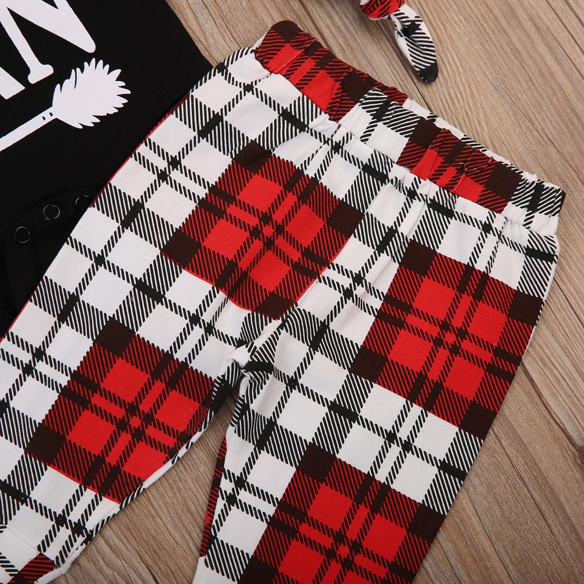 Одежда для малышей для новорожденных Для маленьких мальчиков Человек помета ползунки + Длинные штаны в клеточку + Шляпа комплект P