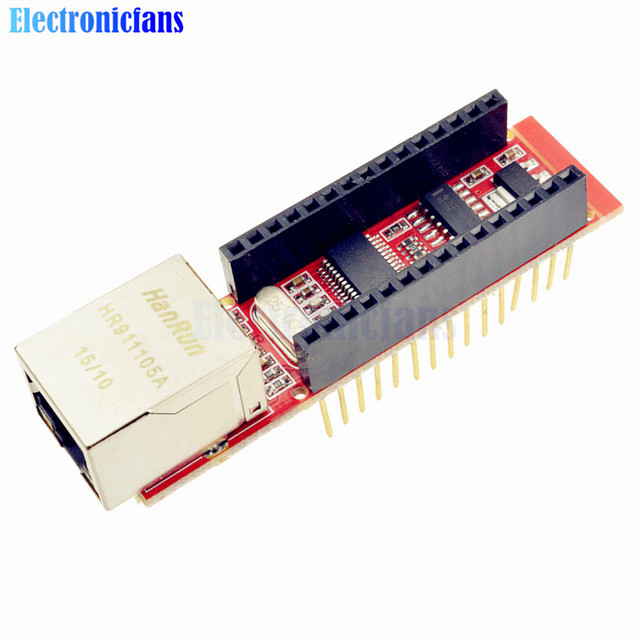 US $3 67 14% OFF|ENC28J60 Ethernet Shield V1 0 For Arduino Nano Microchip  HR911105A RJ45 Nano V3 Ethernet Webserver Board Module -in Integrated