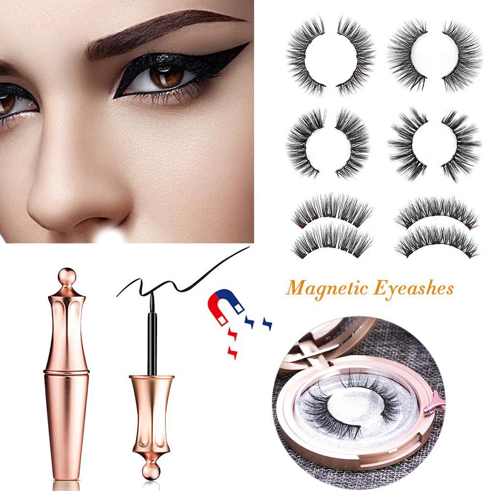 Magnetic Liquid Eyeliner Magnetic False Eyelashes Tweezer Set Waterproof Long Lasting Eyeliner