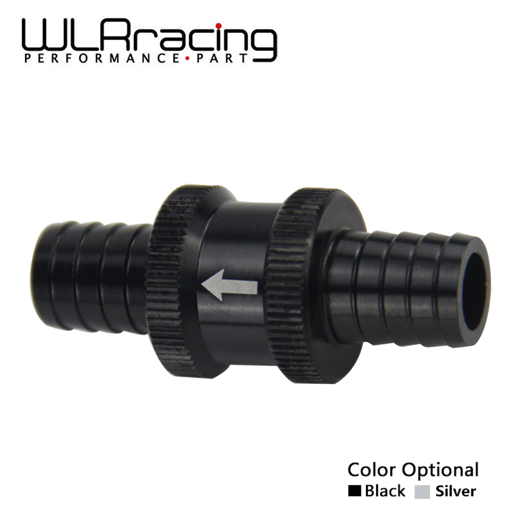 WLR RACING - 9/16 14mm Non Return One Way Fuel Check Valve Aluminium Alloy Petrol Diesel WLR-FCV14