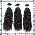 Cabelo virgem indiano encaracolado afro crespo cabelo encaracolado natrual preto 100 costurar em extensões de cabelo humano mulheres negras curly weave do cabelo humano