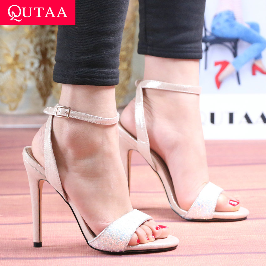 Aneikeh 2019 Neue Mode Sandalen Ankle Strap Kreuz-strap Frau Sandalen 12 Cm High Heels Schmale Band Slip Auf Sandalen Kleid Pumpen Schuhe Hohe Absätze