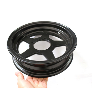 Electric tricycle scooter black aluminum wheel hub closed car four wheeled vehicle wheels 3.50-10 vacuum aluminum wheel