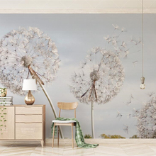 3d Wallpaper Mural Tv-Background-Wall Dandelion Bedroom Behang Living-Room Blue Dream