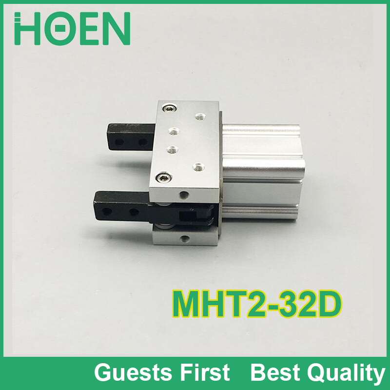 High quality MHT2 MHC2 MHY2 series MHT2-32D toggle type air gripper 2 finger double acting pneumatic robot gripper air cylinder mhc2 10d angular style double acting air gripper standard type smc type pneumatic finger cylinder