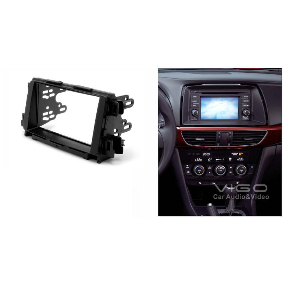 New Double Din Dash Kit Radio Stereo Wiring Harness Install Fitted For Mazda 6