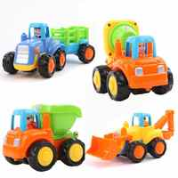 2017 Baby Toys Push and Go Friction Powered Car Toy Trucks Mixer Children Pretend Play Toys Great Gift Construction Toy