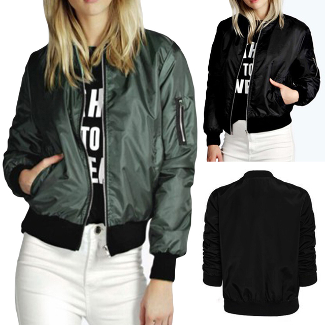 Женщины короткие Новая зимняя сплошной цвет молнии хлопок куртка дамы пальто wrap с длинным рукавом куртки 2017 мода новый стиль B1