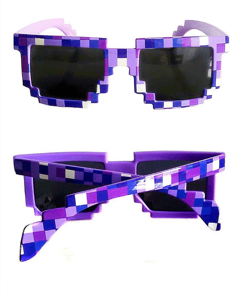 Femmes Hommes 8 Bit Pixel Thug Life Lunettes de soleil Eyewear Eye Glasses Cool Hot