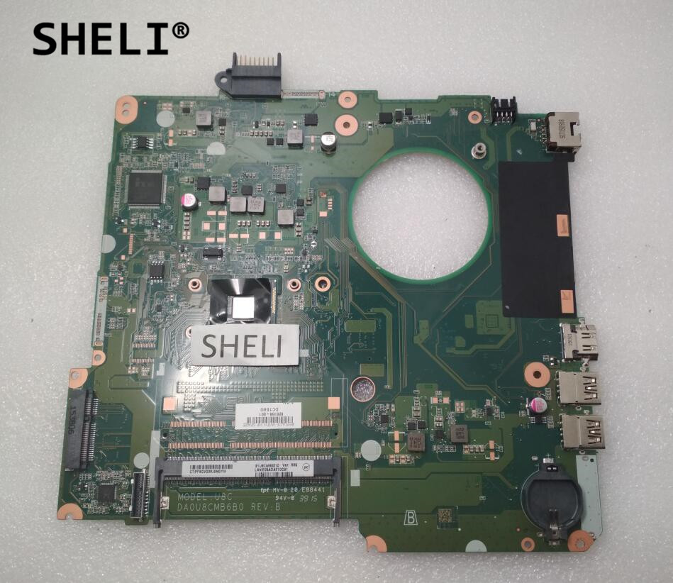 SHELI For HP 15 15-F Motherboard with N3050 CPU 828168-001 828168-601 sheli for hp 15 15 f motherboard with e1 2100 cpu 776783 001 776783 501