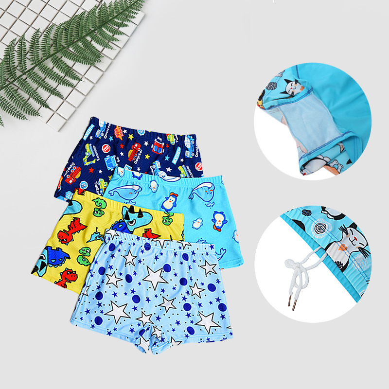 Baby Boy Swimming Trunks Monkey Car Fish Print Cartoon Bathing Suit Children Swim Shorts Kids Toddler Beach Swimwear Pool Shorts