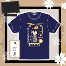 STOCK Game Tourabu Online Figures Image cosplay t-shirt Summer Cotton Top Tee XS-L