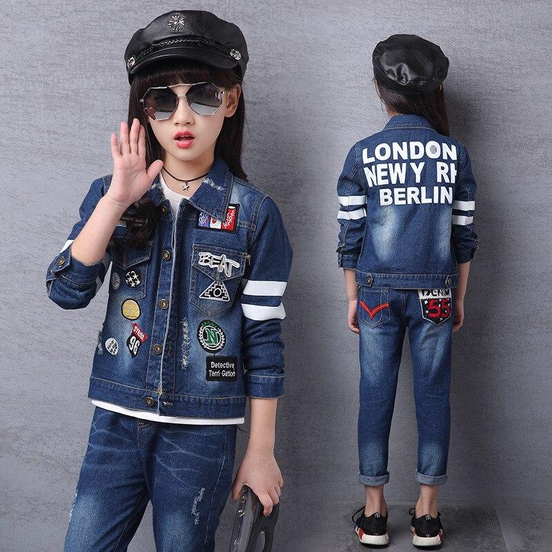 2018 Spring Autumn Children Clothing Set Fashion Casual Boys Girls Clothes Set Long Sleeve Coat + Pants 2 Pieces Set