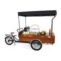 CFR Hot sale pedal/electric cake tricycle coffee bike beer kiosk cart hot dog cargo trike fruit food truck