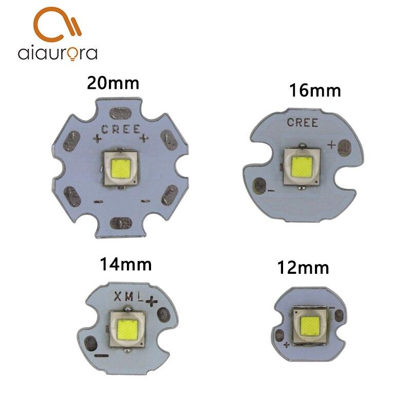 1 шт. CREE xml2 <font><b>LED</b></font> XM-L2 T6 U2 10 Вт белый нейтральный белый теплый белый высокая Мощность светодиодный излучатель с 12 мм 14 мм 16 мм 20 мм PCB для DIY