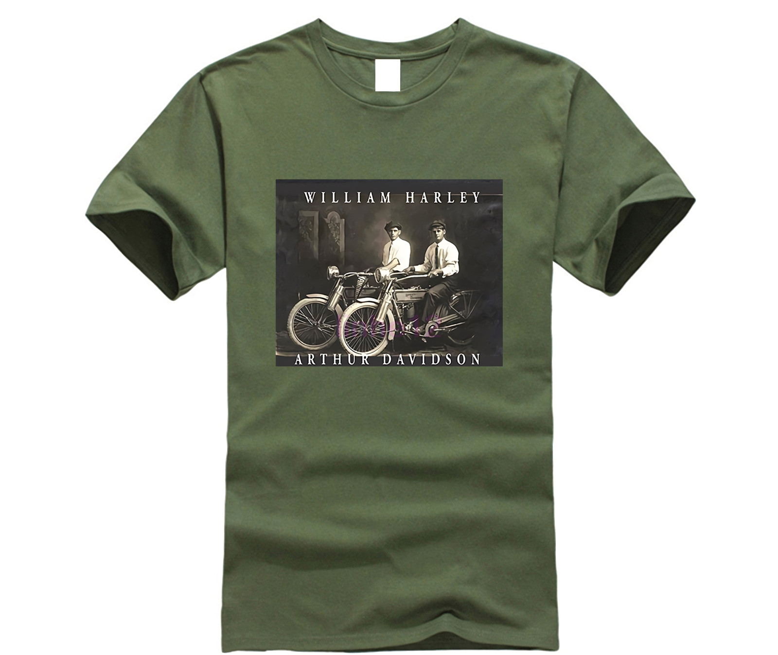 William Harley & Arthur Davidson on Their Motorcycles,   T  -  Shirt  , All Sizes NWT Mens 2019 fashion Brand   T     Shirt   O-Neck 100%cotton
