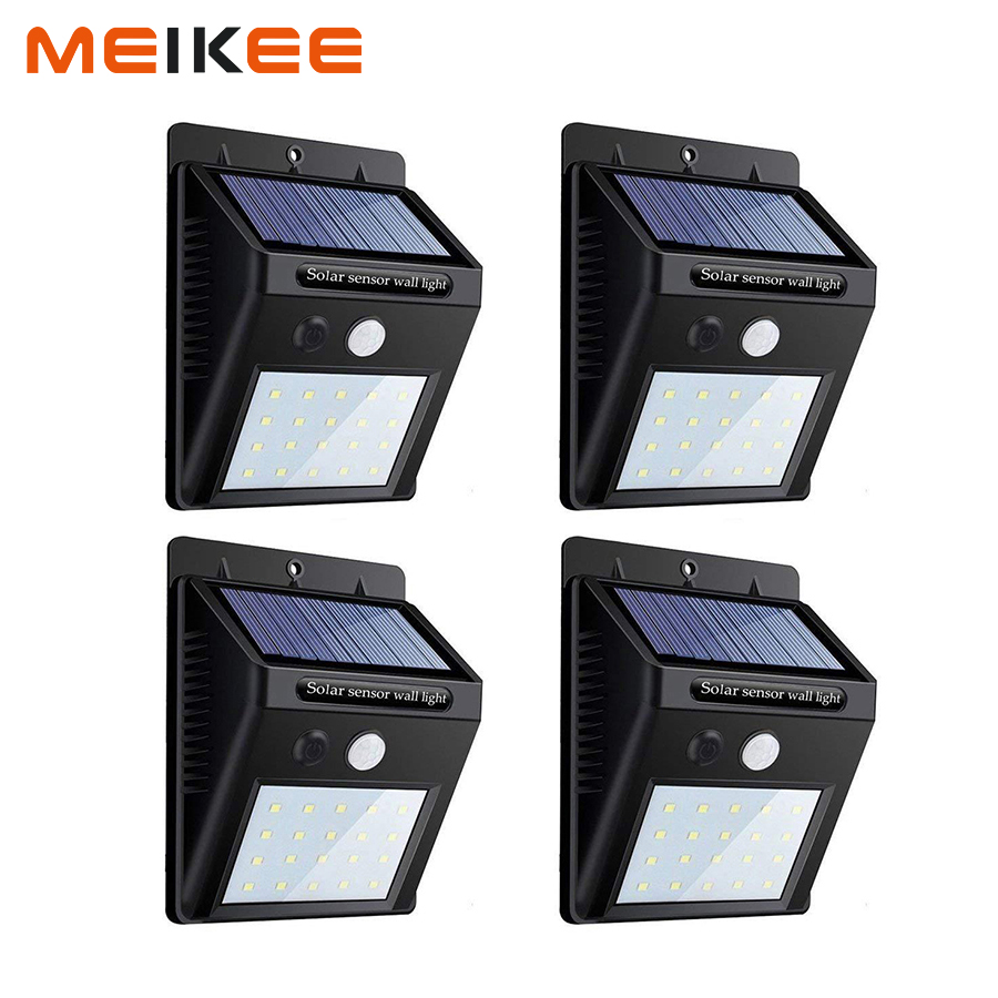 LED Solar Light PIR Motion Sensor Wall Lamp Waterproof Outdoor Lights Garden Lamp Security Night Light