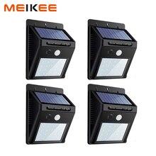 Светодиодный солнечный свет PIR датчик движения настенный светильник водонепроницаемые уличные фонари садовая лампа безопасность ночник