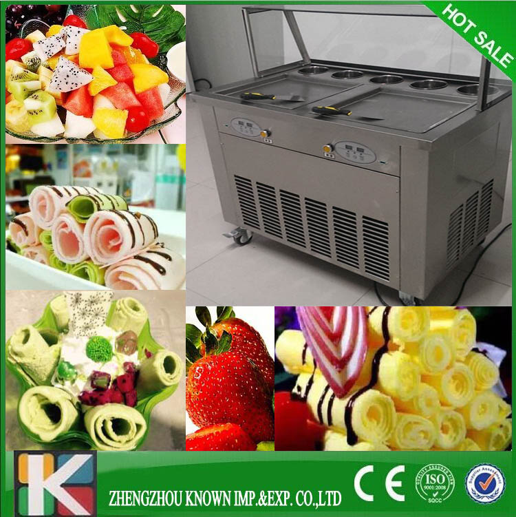 CE approved 110V 220V hot sale fried ice cream machine, fried ice cream roll machineCE approved 110V 220V hot sale fried ice cream machine, fried ice cream roll machine