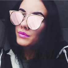 REALSTAR Rose Gold Sunglasses Women Round Luxury Brand Female Mirror Sun Glasses For Women 2018 Fashion Oculos Star Style Shades