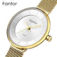 Fantor Women Bracelet Watch Elegant Ladies Fashion Luxury Wristwatch Waterproof Slim Mesh Quartz Dress Watch for Women