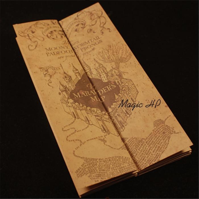 Harri Potter Marauder's Map Mini version Collectible Retro Parchment Map NEW Cosplay Props