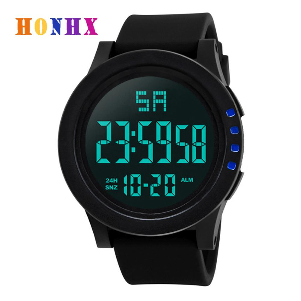 HONHX Brand Men's Fashion Sport Watch Luxury Male Waterproof Digital Watch Military Clockss Relogio Masculino erkek kol saati