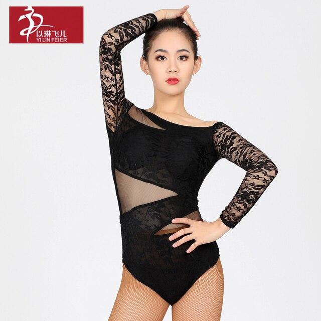 37797290d Brand Women s Ballroom Latin Dance Blouse Top Leotard Bodysuit dance ...