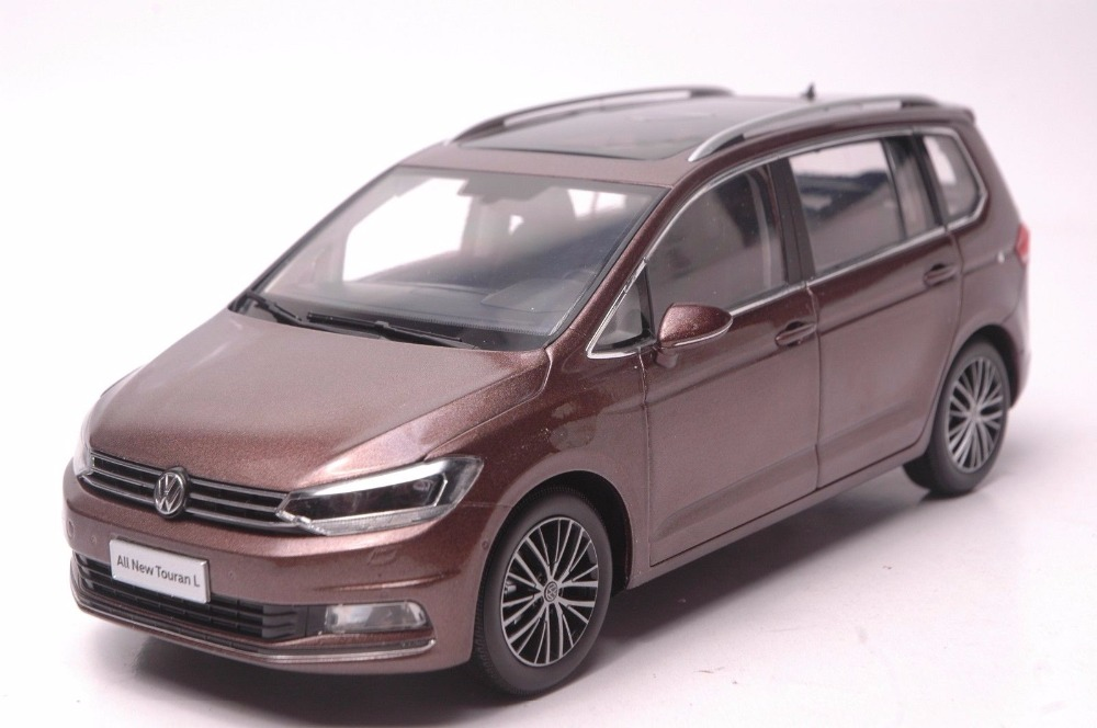 1:18 Diecast Model for Volkswagen VW All New Touran L 2016 Brown MPV Alloy Toy Car Miniature Collection Gifts масштаб 1 18 vw volkswagen new cross polo 2012 diecast модель автомобиля оранжевый