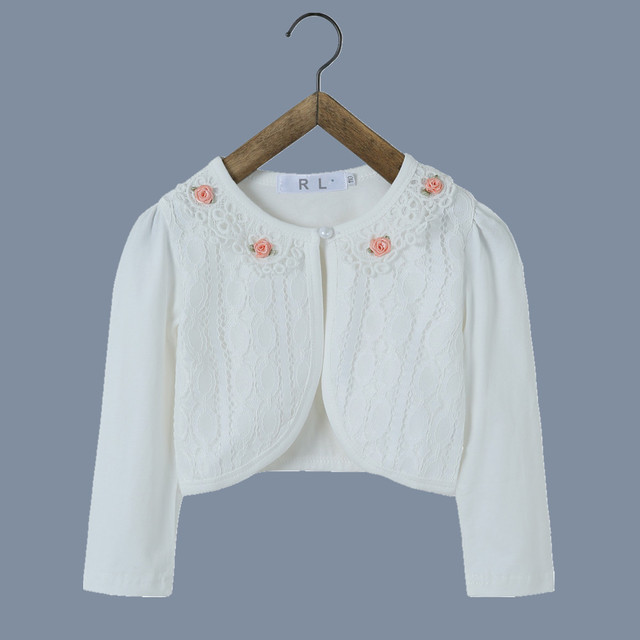 406b7c0e6031 RL Baby Girl Outerwear Cotton White Baby Jacket Cardigan Sweater for Weddings  2018 Baby Clothes For 1 to 2 Years Old