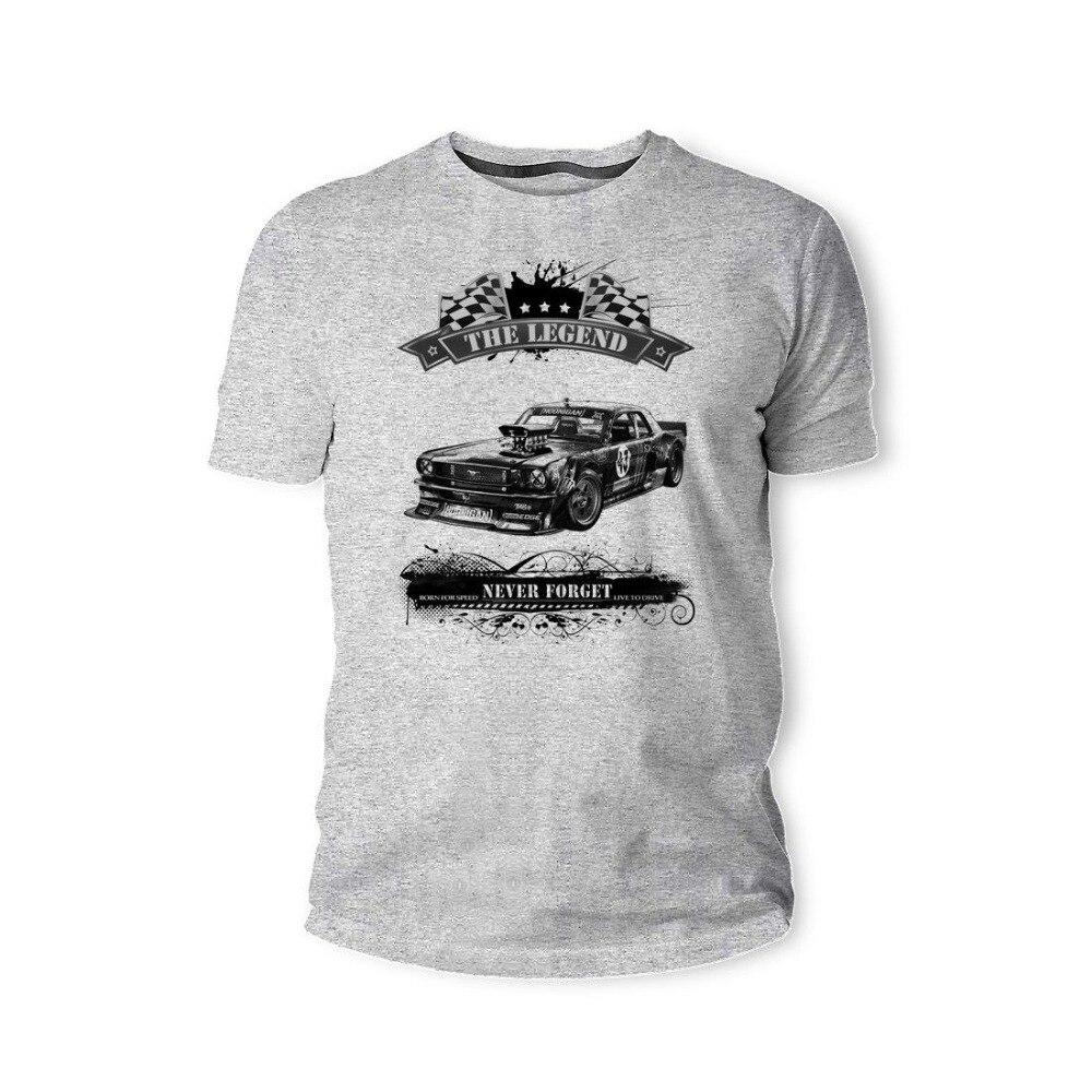 23efa903ff2487 Мода 2019 г. горячая Распродажа футболка, Американский Классический Мышцы  автомобиля Mustang 1965 Youngtimer Oldtimer