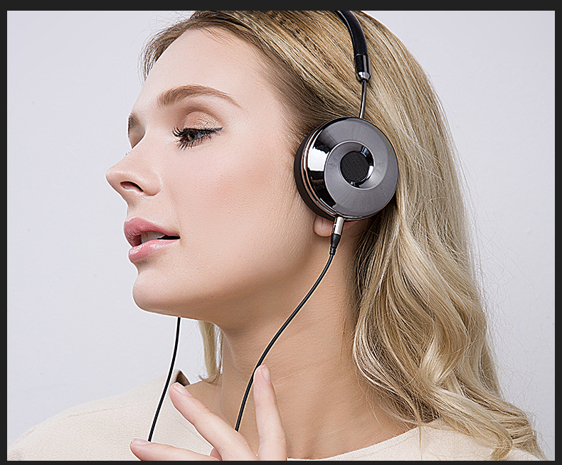 Liboer Headphones Wired On-ear Stereo Headphones for Mobile Phone Best Foldable Headset High Quality Rose Gold Headphone _19