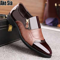 Plus Size TOP Quality Male Men Dress Wedding Hombre Man Zapatos Low Block Heels Formal Casual Business Leather Oxford Shoes A701