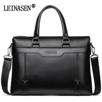 LEINASEN Brand 2018 Men S Business Briefcase Men Leather Messenger Bags Laptop Handbag Crossbody Bag Men