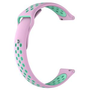 Image 4 - Breathable Silicone Sports Band Watch Strap Wrist Strap Wristband 18 20mm Rubber Strap Bands For Ticwatch C2