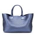 Плетеные сумочки, тюки 2018, новая зимняя сумка на плечо, вместительная брендовая сумка, корзина для покупок