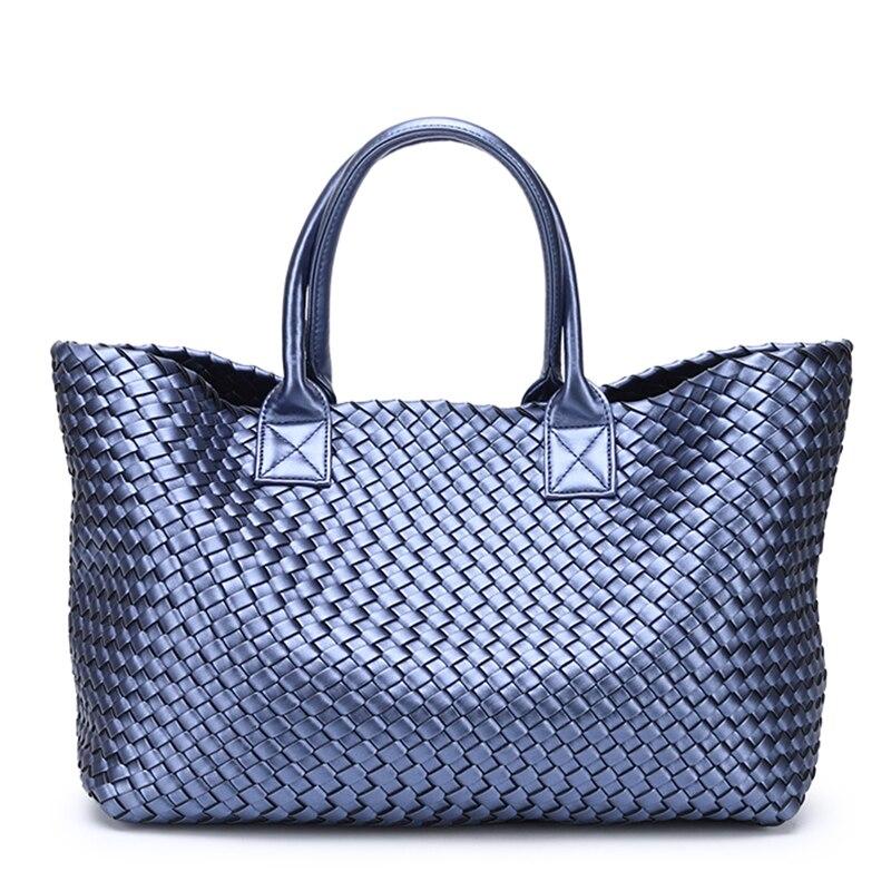 Тканые сумки тюки 2018 зима новый прилив ручной плечо большой емкости бренд корзина для покупок, сумка