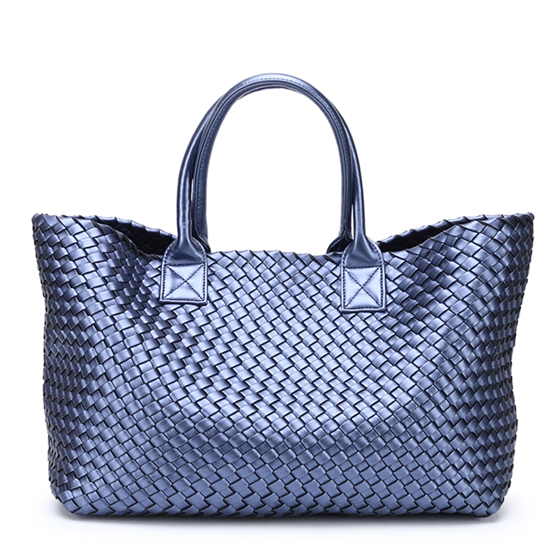Woven handbags bales 2018 winter new tide hand shoulder large-capacity brand shopping basket bag