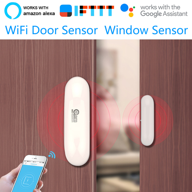 Coolcam NEO WiFi Smart Door Sensor  Window Sensor App Notification Alerts Home Security Door/Window Detector