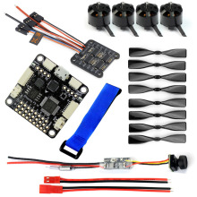 JMT DIY 130-150 FPV Racing Drone parts 1104 4000KV Motor 12A 4 IN 1 ESC 3 Inch Props SP Racing F3 Flight Control Mini Camera