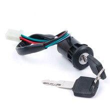 Interrupteur dallumage pour Moto, universel, avec fil, pour Honda/Quad, Yamaha, Suzuki, Scooter, ATV, accessoires de motocyclette