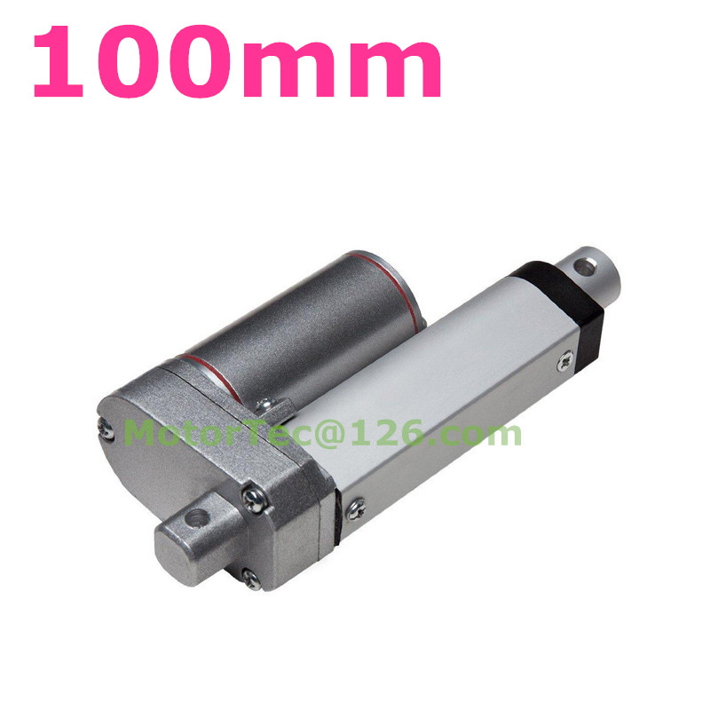 New 100mm stroke 1500N 150KG load capacity heavy duty 12V 24V DC electric linear actuator 24v wireless remote controller for heavy duty linear electric actuator new 1 pcs