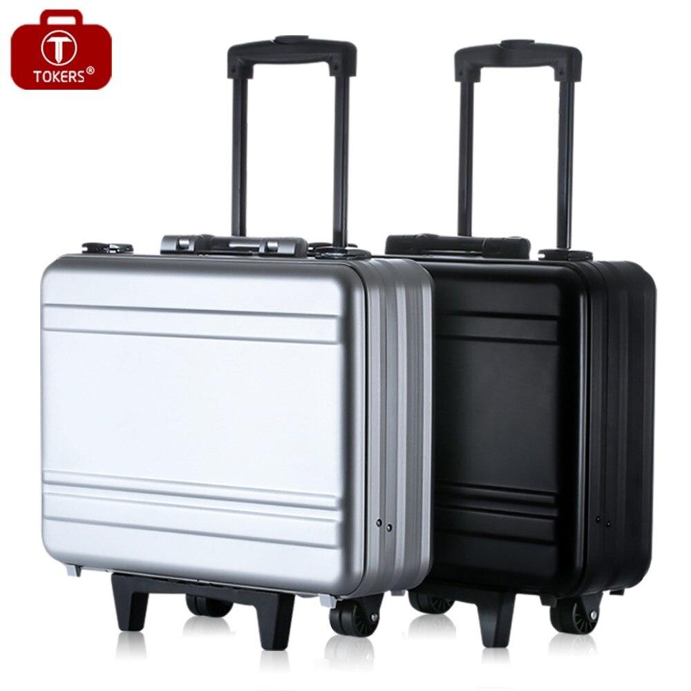 All-aluminum trolley case Integral metal aluminum case passw