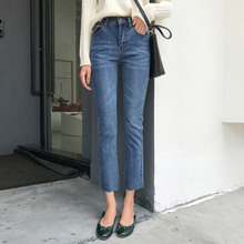 2019 Spring Slim Jeans Pants Women Blue Skinny High Waist Flare Stretch Zipper Female Fashion Denim