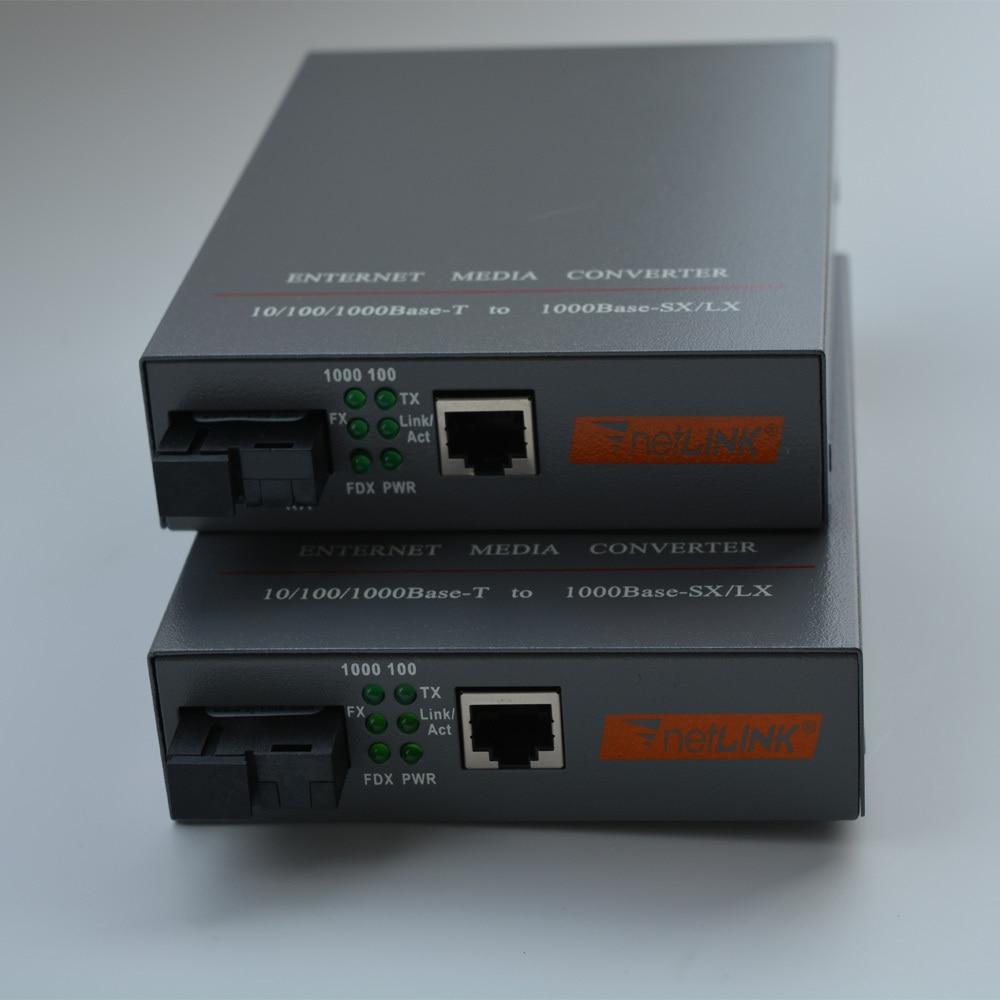 imágenes para Alta Calidad 100/1000 Mbps Gigabit Ethernet convertidor de medios de fibra, SC Monomodo fibra del solo 20Km, 1 Par