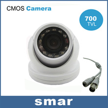 Home Security Indoor Mini Dome Camera 700TVL CMOS 12 IR Infrared 3.6mm Wide Lens Surveillance Camera Free shipping